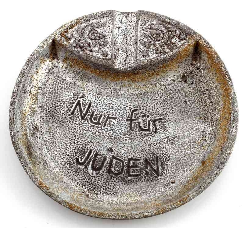 GERMAN WWII THIRD REICH ASHTRAY NUR FUR JUDEN