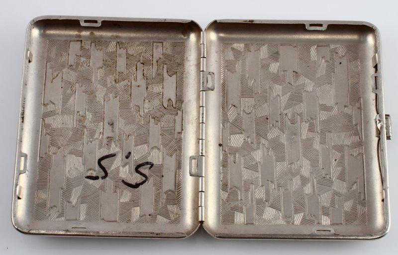 GERMAN WWII THIRD REICH NSKK CIGARETTE CASE - 2