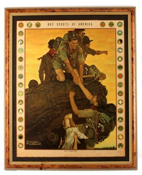 NORMAN ROCKWELL BOY SCOUTS  PRINT ALL TOGETHER