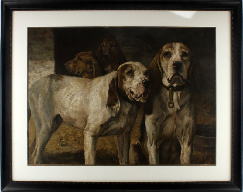 BEAR DOG LITHOGRAPH BY H R POORE FROM EL DORADO