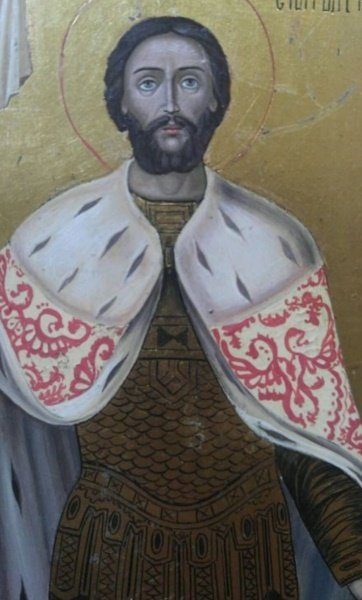 ANTIQUE 19 CENTURY ICON OF ALEXANDER NEVSKIY - 2