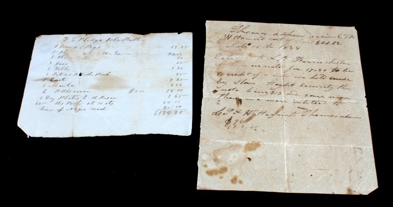 2 SLAVE DOCUMENTS 1838 TN SECURITY & HIRE