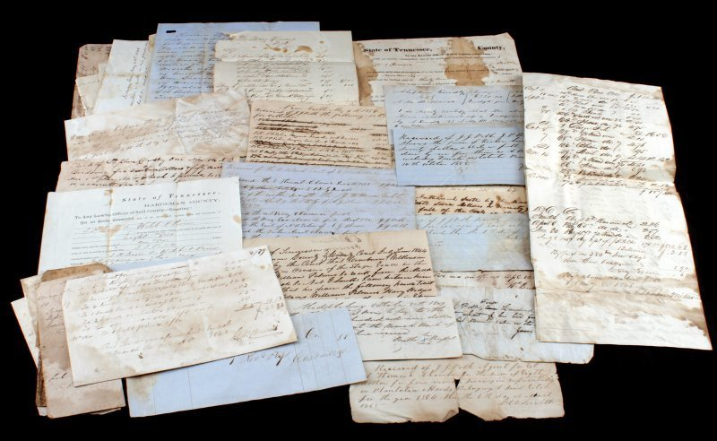 OVER 45 TENNESSEE 1820 TO 1865 DOCUMENTS & NOTES