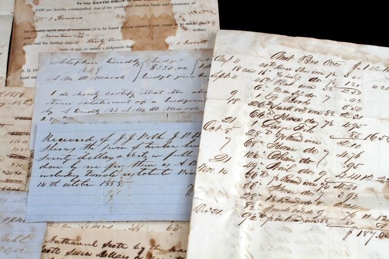 OVER 45 TENNESSEE 1820 TO 1865 DOCUMENTS & NOTES - 2