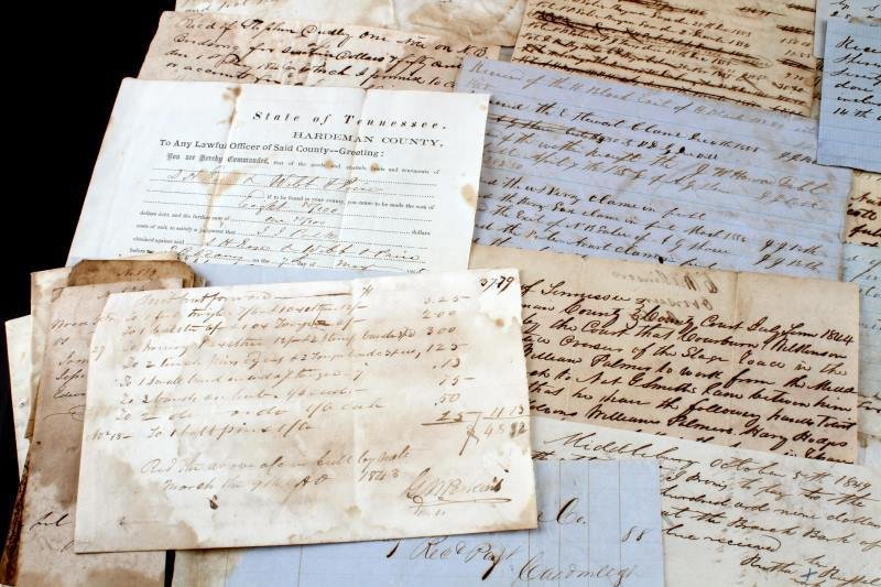 OVER 45 TENNESSEE 1820 TO 1865 DOCUMENTS & NOTES - 4