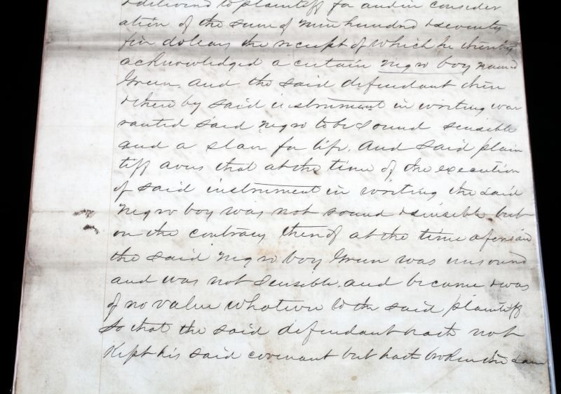 1857 SLAVE DOCUMENT LAWSUIT FOR SELLING UNSOUND - 3