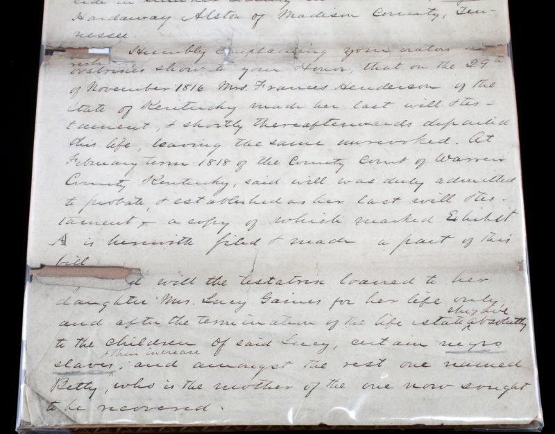 1818 TENNESSEE SLAVE LITIGATION DOCUMENT - 3