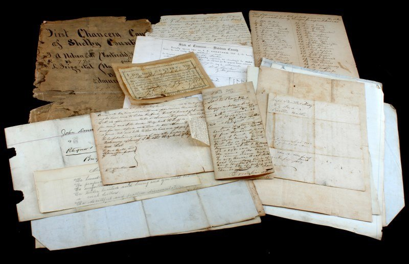 COLLECTION OF 19TH CENTURY TN. DOCUMENTS