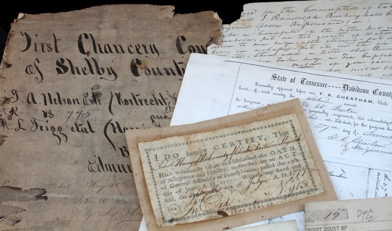 COLLECTION OF 19TH CENTURY TN. DOCUMENTS - 2