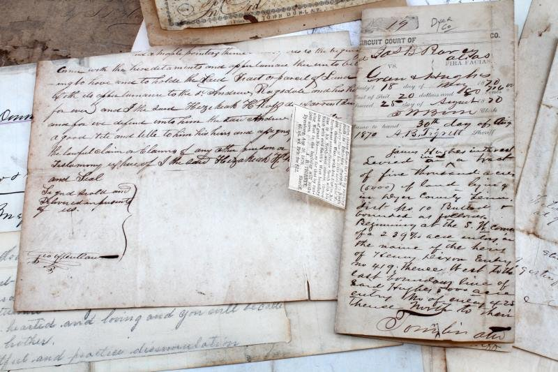 COLLECTION OF 19TH CENTURY TN. DOCUMENTS - 3