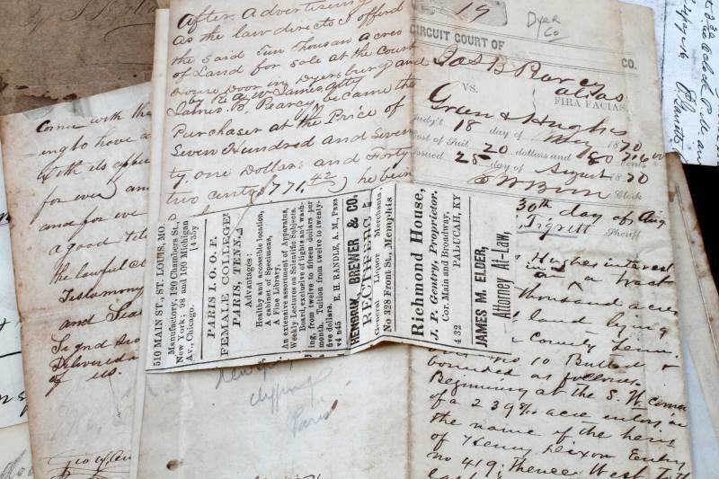 COLLECTION OF 19TH CENTURY TN. DOCUMENTS - 5