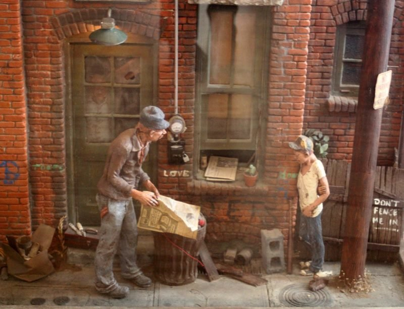 MICHAEL GARMAN (AMERICAN 1938) CITYSCAPE SCULPTURE - 2