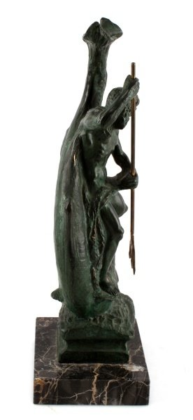 BRONZE STATUE OF NEPTUNE RIDING A LARGE FISH - 5