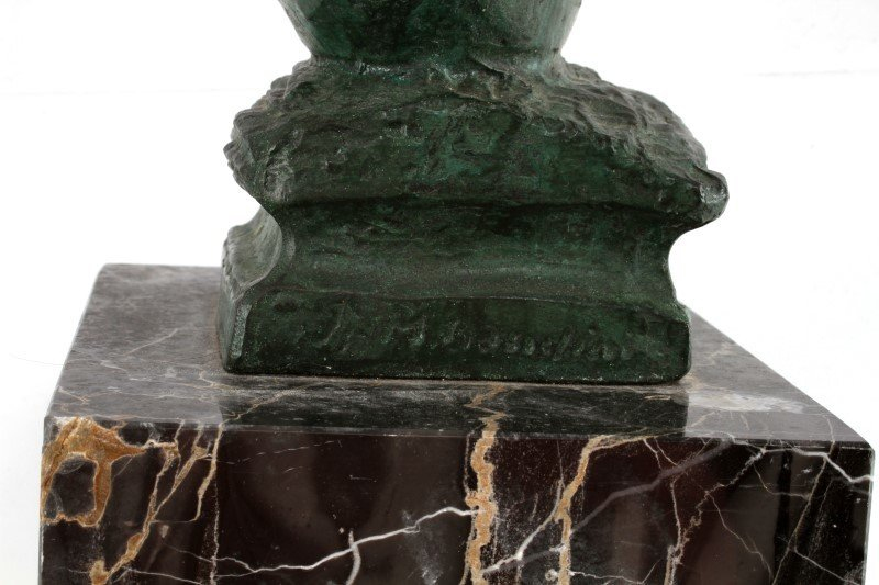 BRONZE STATUE OF NEPTUNE RIDING A LARGE FISH - 6