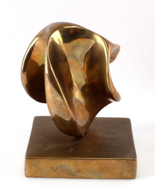 ELI KARPEL (AMERICAN, 1916-1998)  ABSTRACT BRONZE