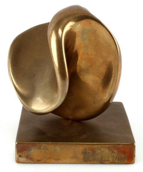 ELI KARPEL (AMERICAN, 1916-1998)  ABSTRACT BRONZE - 4