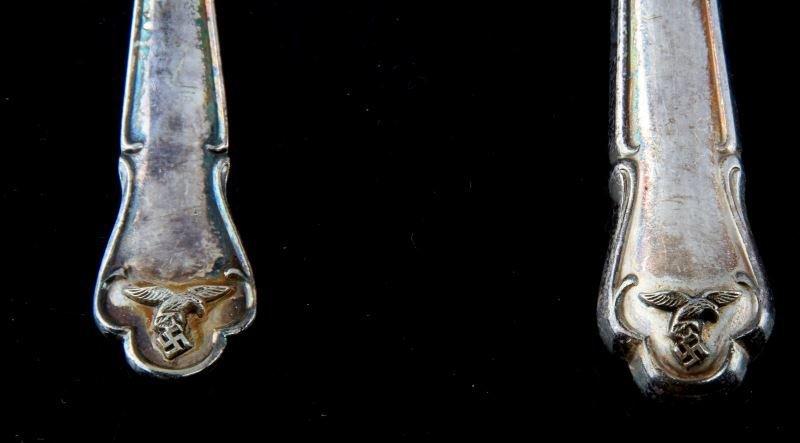GERMAN THIRD REICH LUFTWAFFE FORK & KNIFE SET - 2