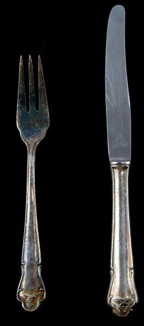 GERMAN THIRD REICH LUFTWAFFE FORK & KNIFE SET - 5