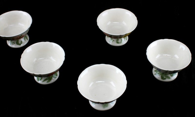 7 FRANCISCAN WILDFLOWER FINE CHINA ICE CREAM BOWLS - 2