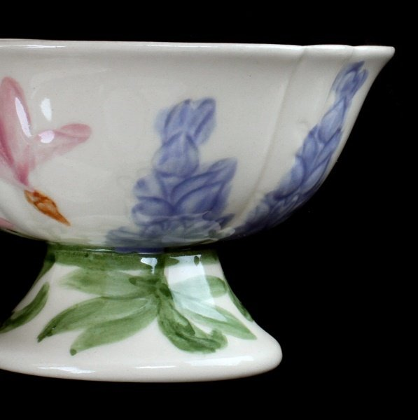 7 FRANCISCAN WILDFLOWER FINE CHINA ICE CREAM BOWLS - 3