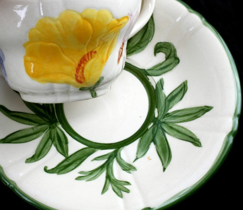 10 PIECE FRANCISCAN WILDFLOWER  CHINA COFFEE SET - 3