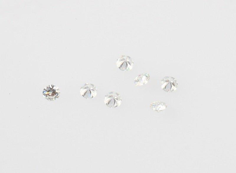 SEVEN LOOSE ROUND BRILLIANT CUT DIAMONDS .96 TCW