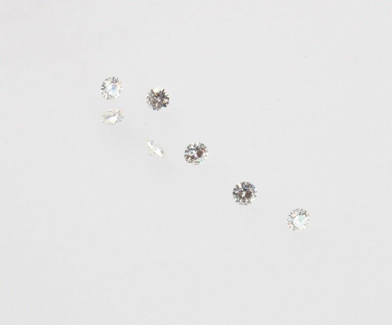 SEVEN LOOSE ROUND BRILLIANT CUT DIAMONDS .96 TCW - 2