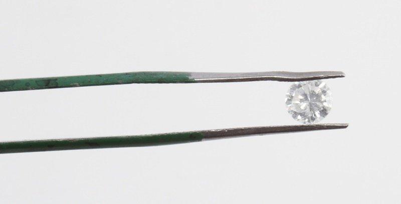 ROUND BRILLIANT CUT .66 CARAT LOOSE DIAMOND - 2
