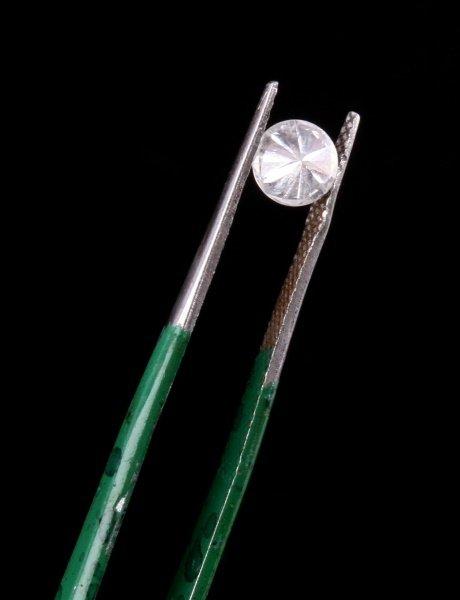ROUND BRILLIANT CUT .66 CARAT LOOSE DIAMOND - 5