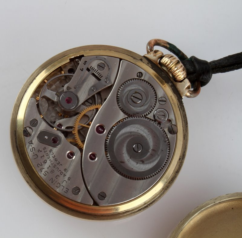ELGIN GRADE 572 19J 6 POS POCKET WATCH - 4