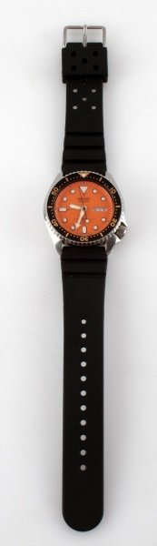 SEIKO QUARTZ 7548-7000 ORANGE DIAL DIVER WATCH
