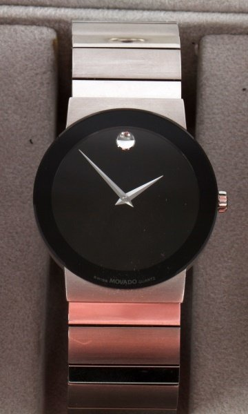 MOVADO STELO MUSEUM STAINLESS/SAPPHIRE GLASS WATCH - 2