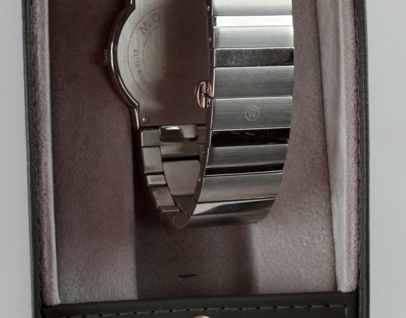 MOVADO STELO MUSEUM STAINLESS/SAPPHIRE GLASS WATCH - 3