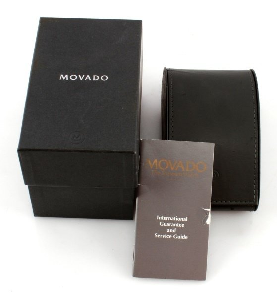 MOVADO STELO MUSEUM STAINLESS/SAPPHIRE GLASS WATCH - 5