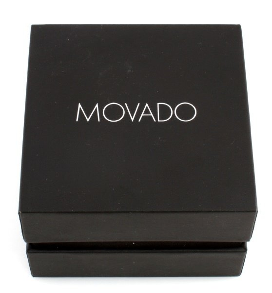 MOVADO STAINLESS STEEL MUSEUM WATCH BLUE DIAL - 5