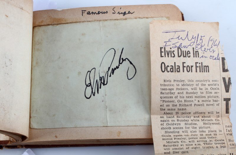 FLORIDA BOY'S AUTOGRAPH BOOK 1960'S ELVIS LBJ