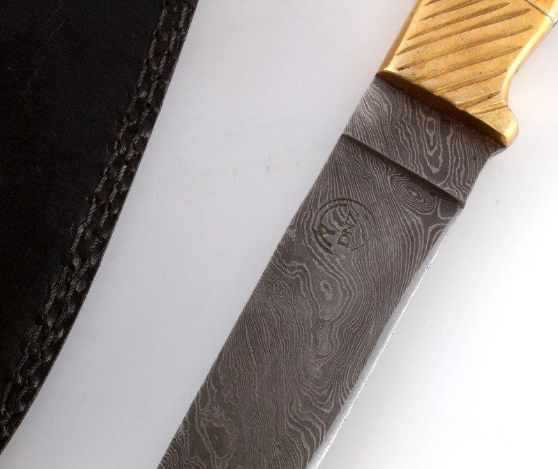 DNZ TRADING CO. CUSTOM DAMASCUS STEEL KNIFE - 4