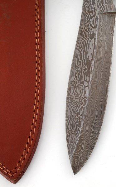 HAND MADE DAMASCUS STEEL  WOOD AND BONE KNIFE - 4