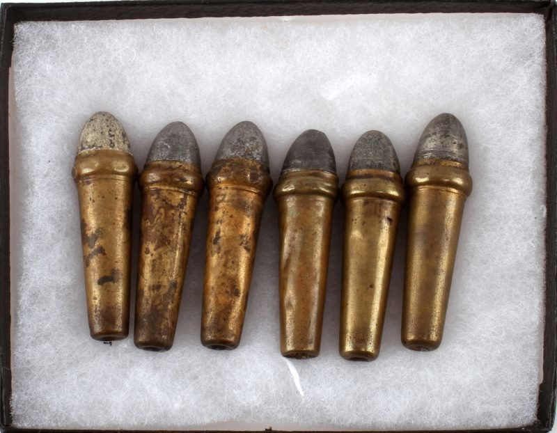 6 RARE CIVIL WAR BURNSIDE BULLETS INTACT