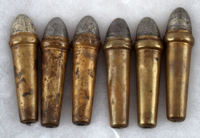 6 RARE CIVIL WAR BURNSIDE BULLETS INTACT - 2