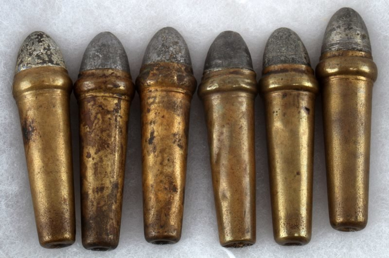 6 RARE CIVIL WAR BURNSIDE BULLETS INTACT - 3