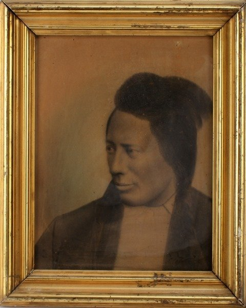 ANTIQUE NATIVE AMERICAN INDIAN ALBUMIN PHOTOGRAPH