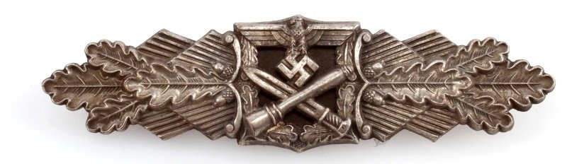 WWII THIRD REICH GERMAN CLOSE COMBAT CLASP SILVER