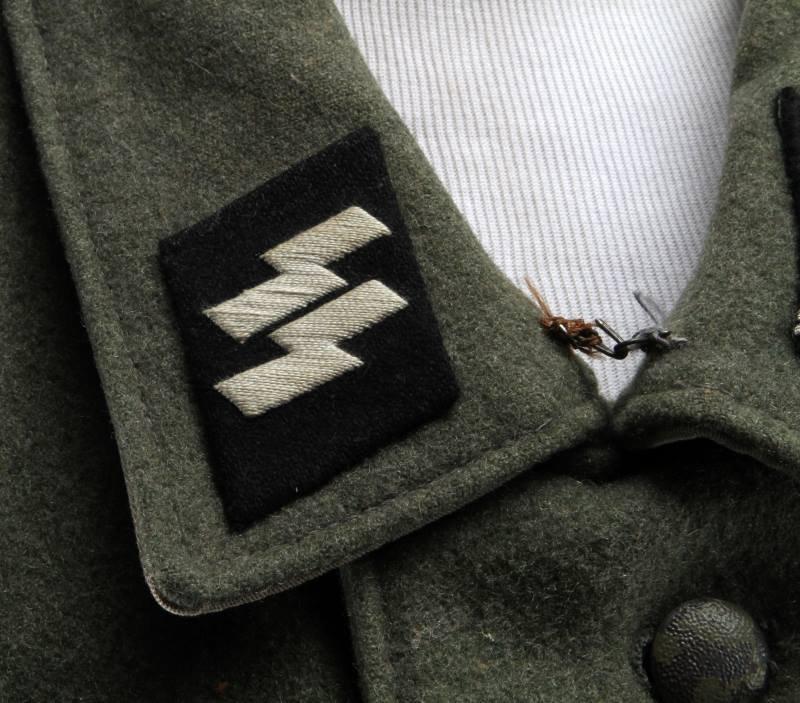 POST-WWII GERMAN TUNIC W SS LEIBSTANDARTE INSIGNIA - 5