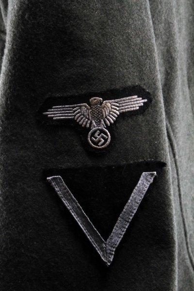 POST-WWII GERMAN TUNIC W SS LEIBSTANDARTE INSIGNIA - 8