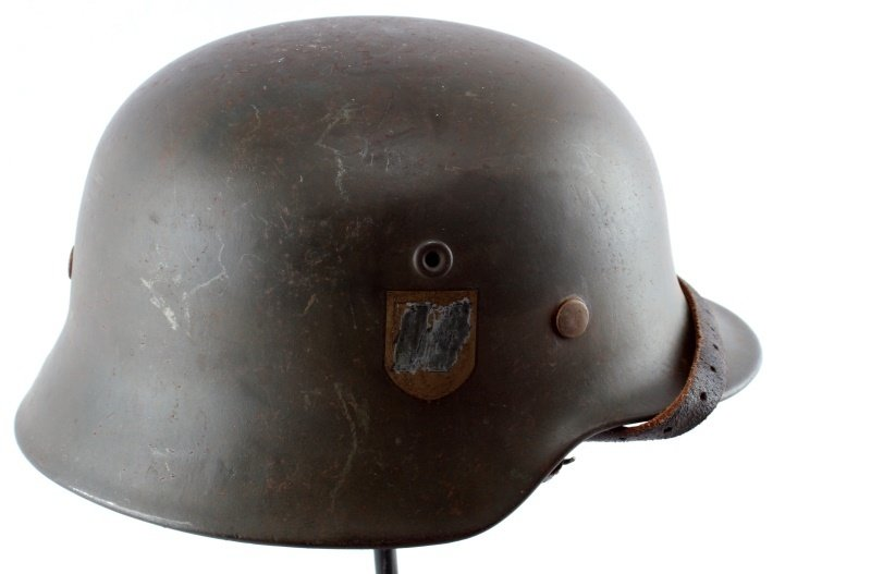 WWII THIRD REICH GERMAN SINGLE DECAL SS M40 HELMET