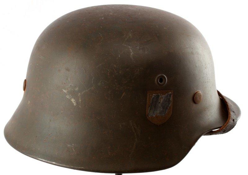 WWII THIRD REICH GERMAN SINGLE DECAL SS M40 HELMET - 2
