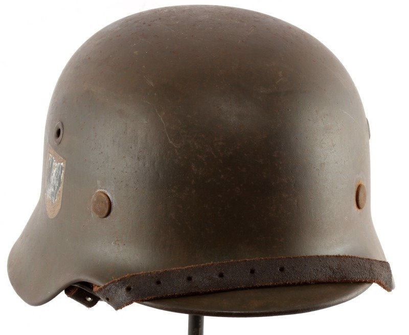 WWII THIRD REICH GERMAN SINGLE DECAL SS M40 HELMET - 3