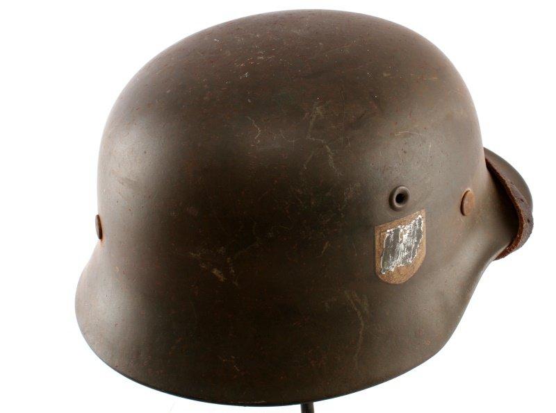WWII THIRD REICH GERMAN SINGLE DECAL SS M40 HELMET - 4