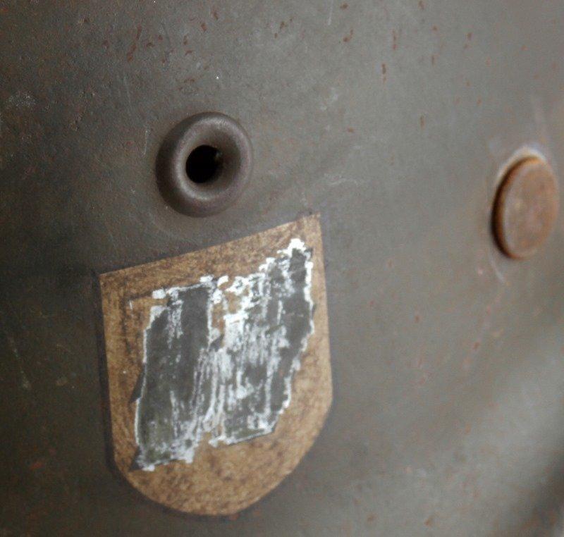 WWII THIRD REICH GERMAN SINGLE DECAL SS M40 HELMET - 5